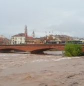 Piena del fiume Adige a Verona: il monitoraggio continuerà fino alle 18