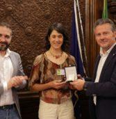 Bussolengo, ricevuta in Regione la due volte campionessa europea di moutain bike Lorena Zocca