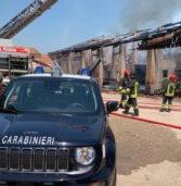 Belfiore, in fiamme il tetto di una struttura in uso a due aziende agricole