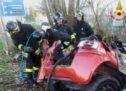Bonavigo, le terribili immagini dell'auto accartocciata diventata la bara dei tre giovani