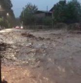 Soave, il video del torrente nelle vie di Costeggiola