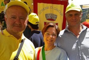 Il vicesindaco Lara Fadini a Roma tra Valente e Pettene (a destra)