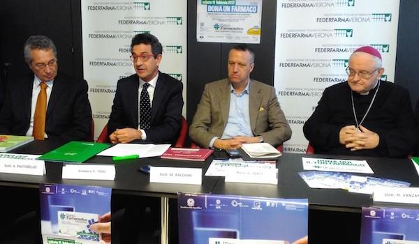 Verona, Federfarma consegna i medicinali raccolti nella giornata del Banco Farmaceutico