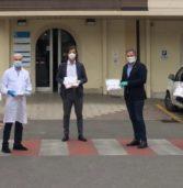 """Bussolengo, grazie alla raccolta fondi promossa da Avies e Comune consegnate500mascherine """"Ffp2″all'ospedale Orlandi"""