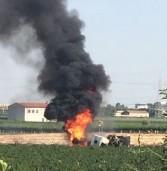 San Bonifacio: camion con benzina si ribalta e si incendia