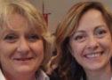 """Cerea, Giorgia Meloni all'Area Exp con l'avvocato Maria Cristina Sandrin ovvero la """"Siora Gina"""""""