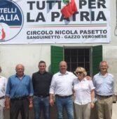 Gazzo Veronese, inaugurato il circolo di Fratelli d'Italia intitolato a Pasetto