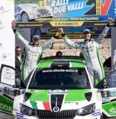Rally Due Valli, trionfo della Skoda prima con Scandola e 11. con Strabello