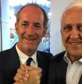 Soave Comunali, Zaia incontra il candidato Magrinelli