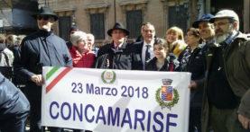 Concamarise a Roma per l'investitura a senatore del suo sindaco, Cristiano Zuliani
