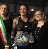 S. Bonifacio, la campionessa di boxe Bortot vince ai punti sull'ostica belga Gontaruk