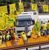 """Agricoltori al valico del Brennero per fermare il """"finto Made in Italy"""""""