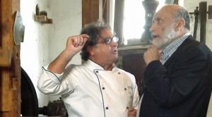 Gabriele Ferron con Carlo Petrini