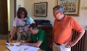 Il sindaco Girardi con i presidenti delle due società calcistiche