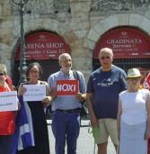 """Verona, manifestazione de """"L'Altra Europa"""" a sostegno del popolo Greco"""