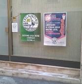 Legnago, vandali incappucciati imbrattano la sede della Lega