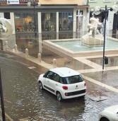 Legnago, ancora allagamenti per le piogge con il sottopasso di via Gattina bloccato