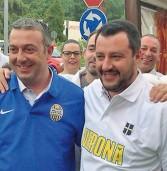 Cerea, bagno di folla per Salvini e Montagnoli al Bristol Cafè