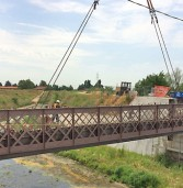 San Bonifacio, da stamattina i lavori per posizionare il nuovo ponte della Motta