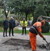 Verona, controlli in Corso Porta Nuova dopo i lavori a seguito del cedimento che aveva inghiottito un'auto