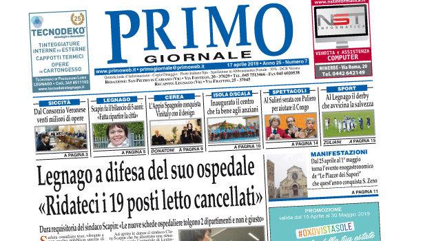 Primo Giornale, in distribuzione nel Basso Veronese il numero del 17 aprile