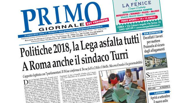 Primo Giornale, il numero di marzo in distribuzione nell'Est Veronese