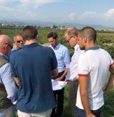 Belfiore, sopralluogo del commissario ai Pfas sullo stato di avanzamento lavori dei nuovi acquedotti